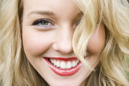 young blond girl with perfect health gums 3101064_s